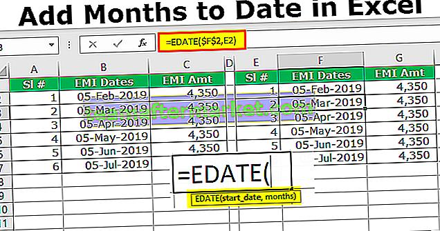 Excel Ajouter des mois à ce jour
