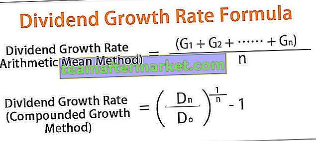 Taux de croissance des dividendes