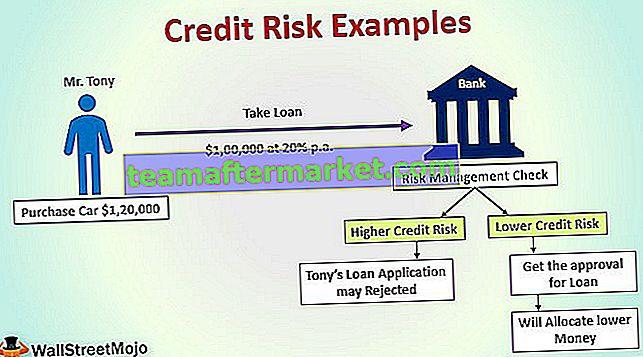 Voorbeelden van kredietrisico's