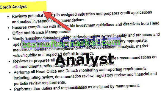 Carrière d'analyste crédit