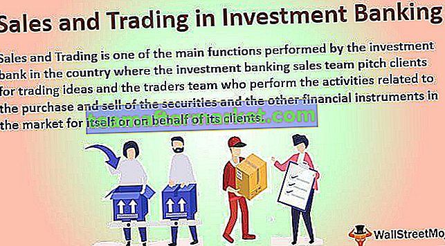 Verkoop en handel in investeringsbankieren