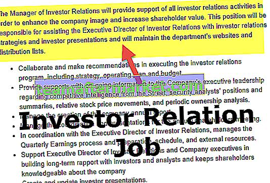 Uraian Pekerjaan Hubungan Investor